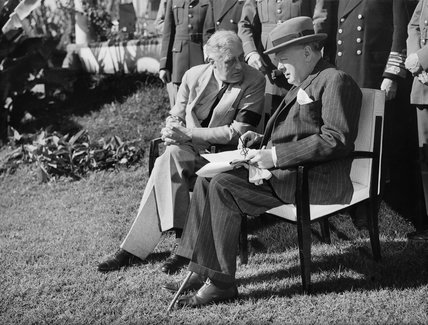 Winston Churchill and President Roosevelt at the Casablanca Conference, January 1943.