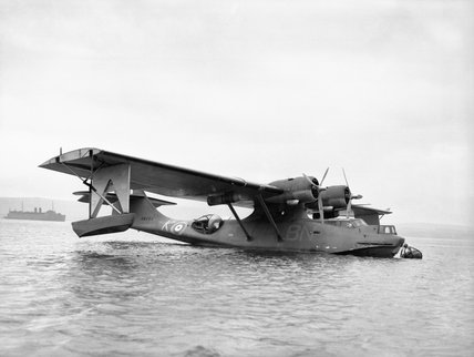 Consolidated Catalina Mk II of No. 240 Squadron RAF based at Stranraer in Scotland, March 1941.