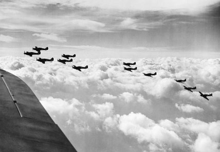 Hawker Hurricane Mk Is of No. 85 Squadron RAF during the Battle of Britain, 1940.