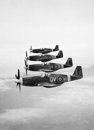 North American Mustang Mark IIIs of No. 19 Squadron RAF based at Ford, Sussex, 21 April 1944.