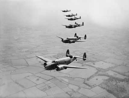 Lockheed Hudsons of No. 233 Squadron RAF based at Aldergrove in Northern Ireland, 30 May 1941.