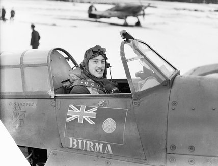 Squadron Leader Robert Stanford-Tuck, CO of No. 257 Squadron, in the cockpit of his Hawker Hurricane Mk I at Coltishall, January 1941.