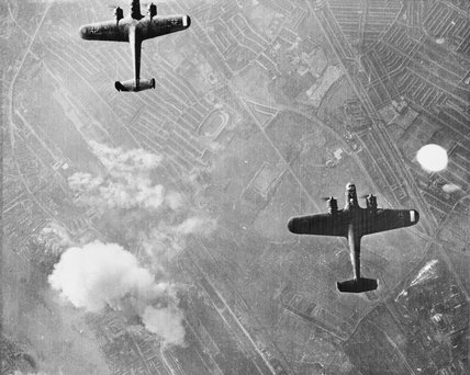 German Dornier Do 17 bombers over London, 7 September 1940.