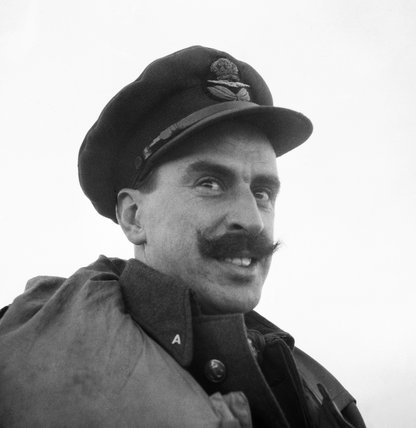 Squadron Leader A H  Rook, commanding No. 81 Squadron at Vaenga, near Murmansk in Russia, September 1941.