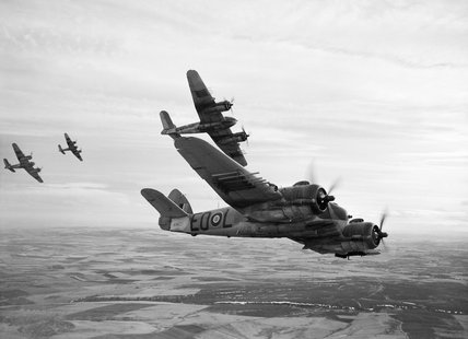 Bristol Beaufighter Mk Xs of No. 404 Squadron RCAF based at Dallachy in Scotland, February 1945.