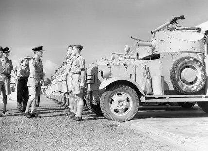 The Air Officer Commander-in-Chief Middle East, Air Chief Marshal Sir Arthur Longmore, inspects a section of No. 2 Armoured Car Company RAF, North Africa, November 1940.