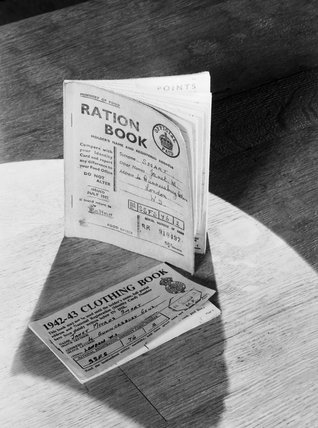 A ration book and clothing coupon book as issued to British civilians during the Second World War.