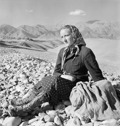 A young Polish woman, one of a group of refugees permitted to leave the Soviet Union and cross over the mountains into Persia, 6 November 1942.