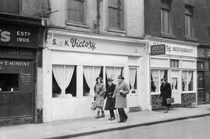 The 'Victory' restaurant in Soho, London, 1944.