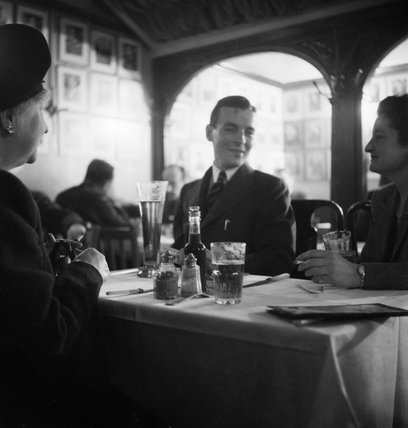 Belgians enjoying a meal