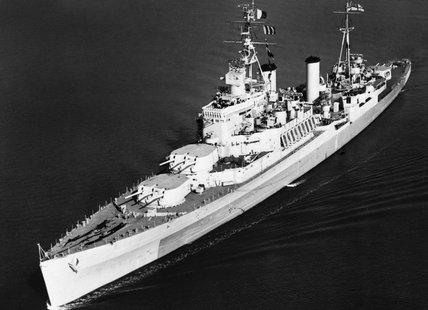 HMS UGANDA, 14 October 1944.