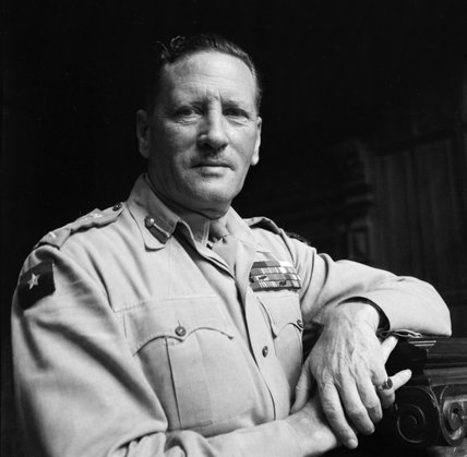 Cecil Beaton portrait of General Sir Claude Auchinleck, Commander in Chief of the Indian Army, 1944.