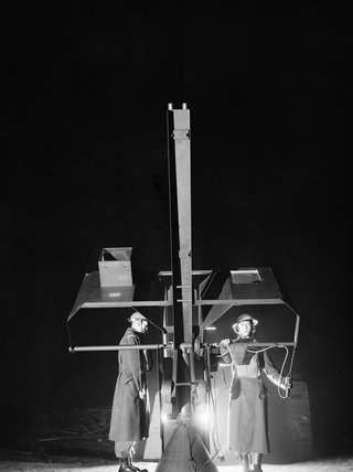 Members of the Home Guard manning an anti-aircraft rocket weapon (known as a ''Z' Battery) at Bootle, Liverpool, January 1942.