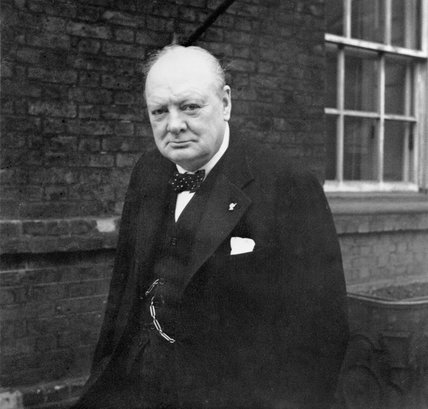 Winston Churchill outside 10 Downing Street, 21 November 1941.
