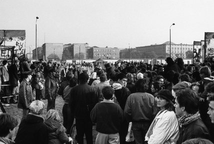 The opening of the Berlin Wall, 9 November 1989.