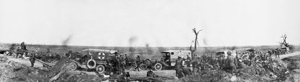 A Field Ambulance Dressing Station of 56th Division near Guillemont, 15th September 1916.