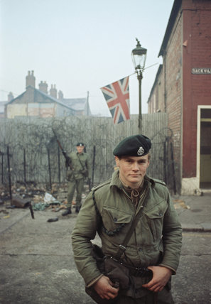 2nd Lieutenant Robin Martin of 1st Royal Green Jackets in Belfast ...