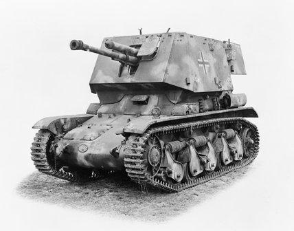German 4.7cm PaK(t) auf Panzerkampfwagen 35R(f).