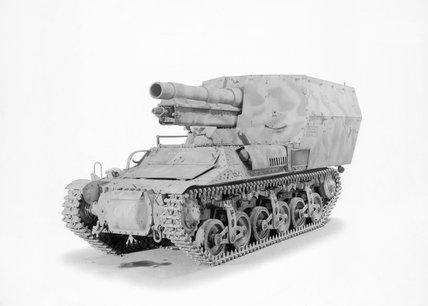 German Lorraine Schlepper 15cm self-propelled gun.
