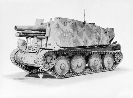 German Grille 15cm self-propelled gun.