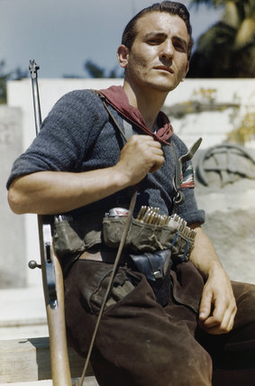 An Italian partisan in Florence, 14 August 1944.