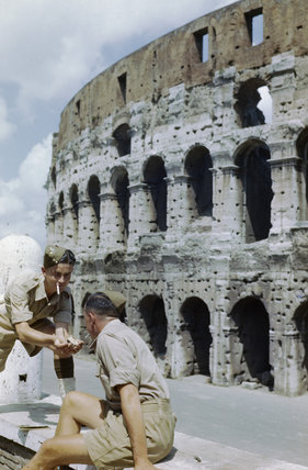 British soldiers visit the Colosseum while on leave in Rome, June 1944.