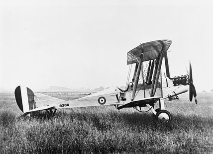 BE2c, two-seat reconnaissance aircraft, used by the Royal Flying Corps (RFC) during the First World War.