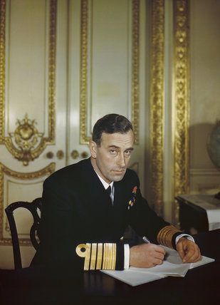 Admiral Lord Louis Mountbatten, 1943.