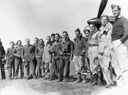 Pilots of No. 33 Squadron RAF, at Larissa, Greece