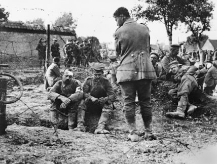 German wounded soldiers from Baden regiment captured in the first British attack at Morlancourt, near Albert.