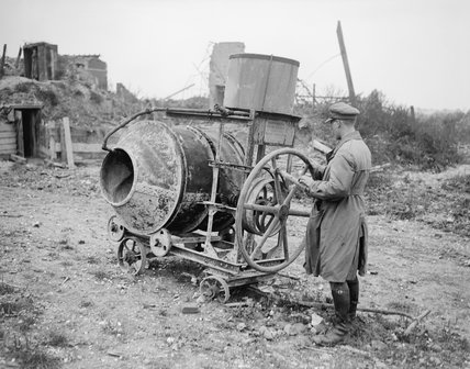 One of the portable concrete-making machines used in the construction of the Hindenburg Line, and found at Izel-les-Equerchin on its capture by the 8th Division.