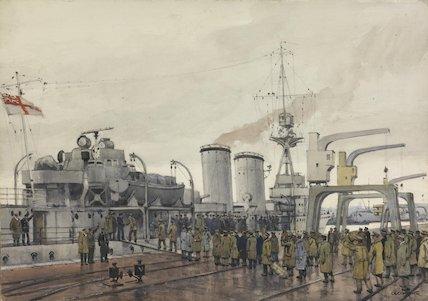 Stettin, New Year 1919 : British prisoners homeward bound boarding