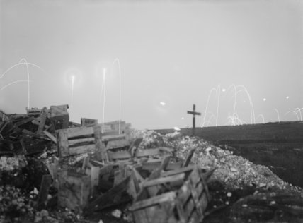 Evening scene from the trenches after the attack on Beaumont Hamel, 2nd July 1916.