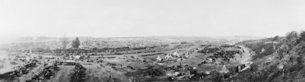 Panoramic view of the camps in Fricourt Valley, Somme, 20 July 1916.