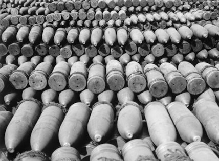 9.2 inch howitzer shells, September 1916.