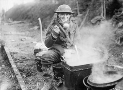 A regimental cook, Ancre Valley, Somme, 1916.