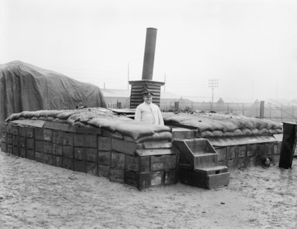 The yeast store at the bakery. Calais, March 1917.