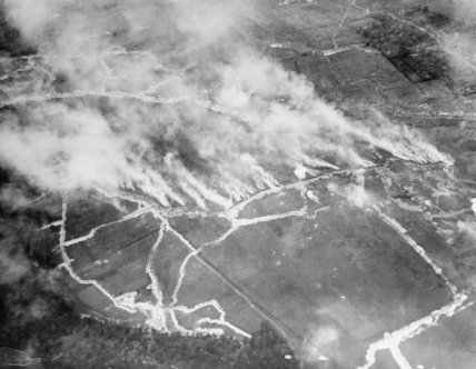 Air photo of a gas attack.