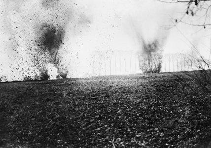 Heavy shell bursts.