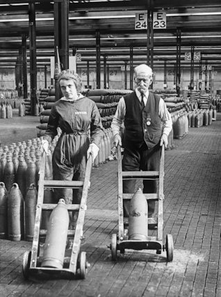 A Young Woman And An Old Man Both Workers At Chilwell Munitions Factory Transport