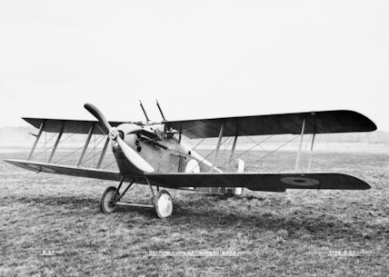 Sopwith 5F.1 Dolphin single-seat fighter biplane. Used for ground attack and high-altitude offensive patrols.