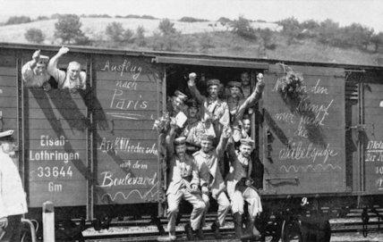 German troop train.