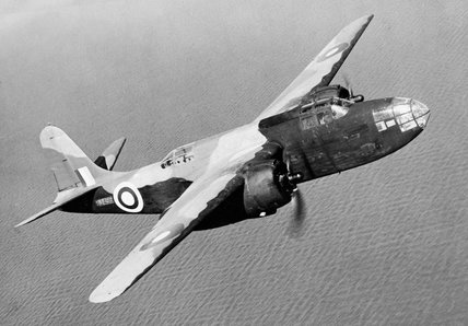 Havoc Mark I (Intruder), BJ496, in flight off the Irish coast.