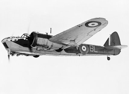 Blenheim Mark IV, R3612  BL-V, of No. 40 Squadron RAF.