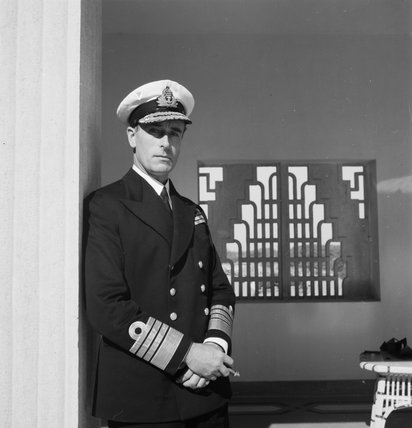 Admiral Lord Louis Mountbatten, Supreme Allied Commander, South East Asia, at New Delhi, India, 1944