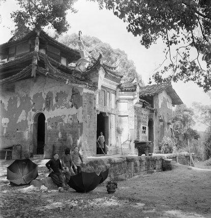 Kuang-Hsin village, Kwangsi, China, 1944