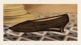 Lady Mary Mordaunt's black silk shoe; from T. Watson Greig, from 'Ladies' Old-fashioned shoes', 1885
