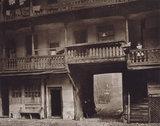 The Inn Yard looking towards Warwick Lane,  The Oxford Arms, 1875