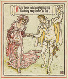 Then forth each knightly lily led ...', from Walter Crane's 'Queen Summer, or the Tourney of the Lily & the Rose', London [&c.]: Cassell & Co., 1891