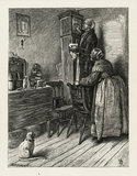 The Old Couple and the Clock, from Edward & Thomas Dalziel's 'A Round of Days', London: George Routledge &  Sons, 1866